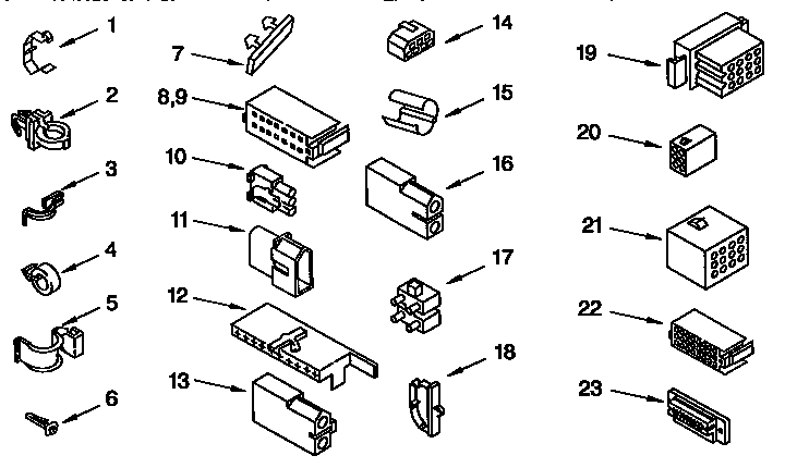 Kenmore 110.91551200 Disconnect/Connector for Motor