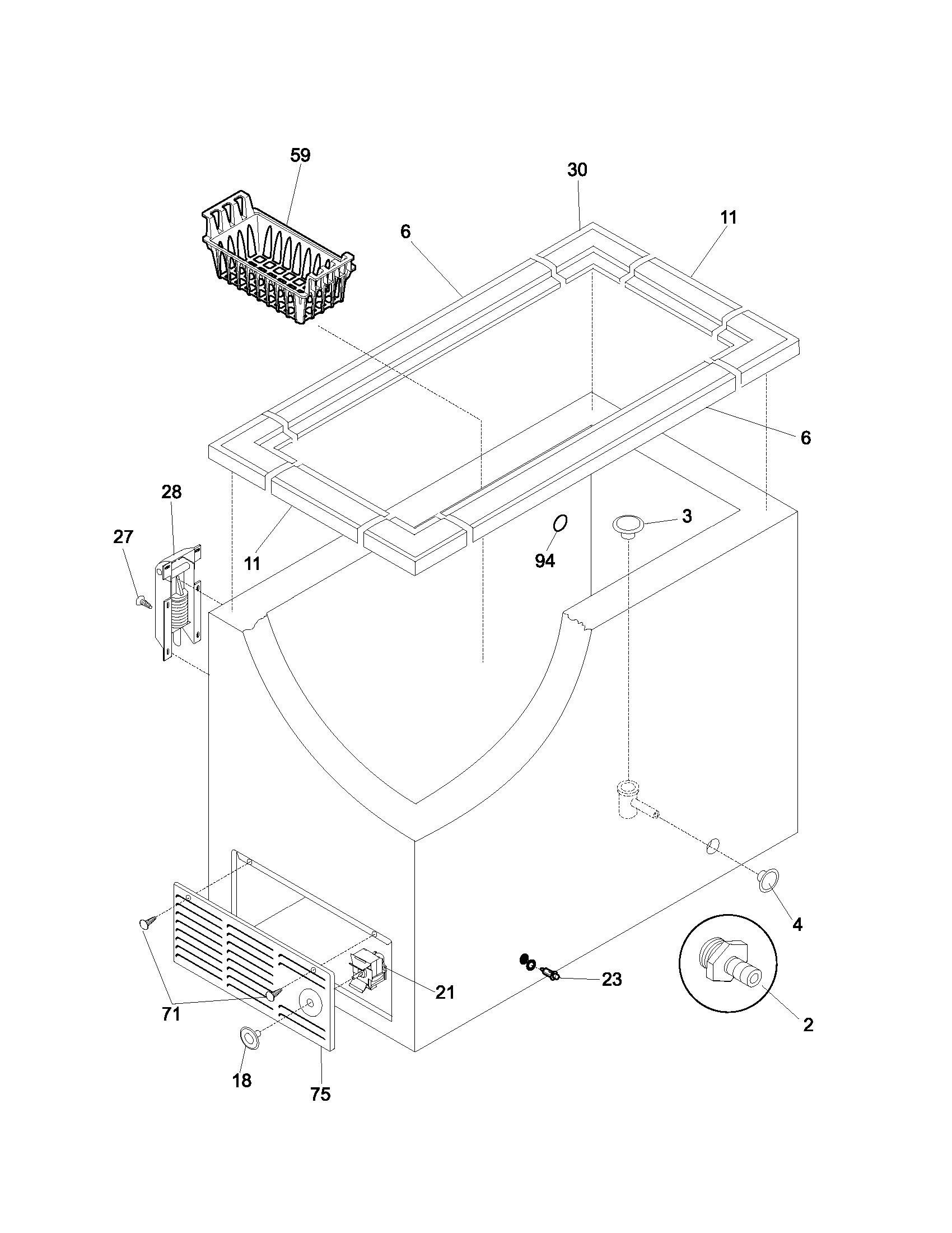 Kenmore 253.14712101 Hanging Freezer Basket (11x8x18