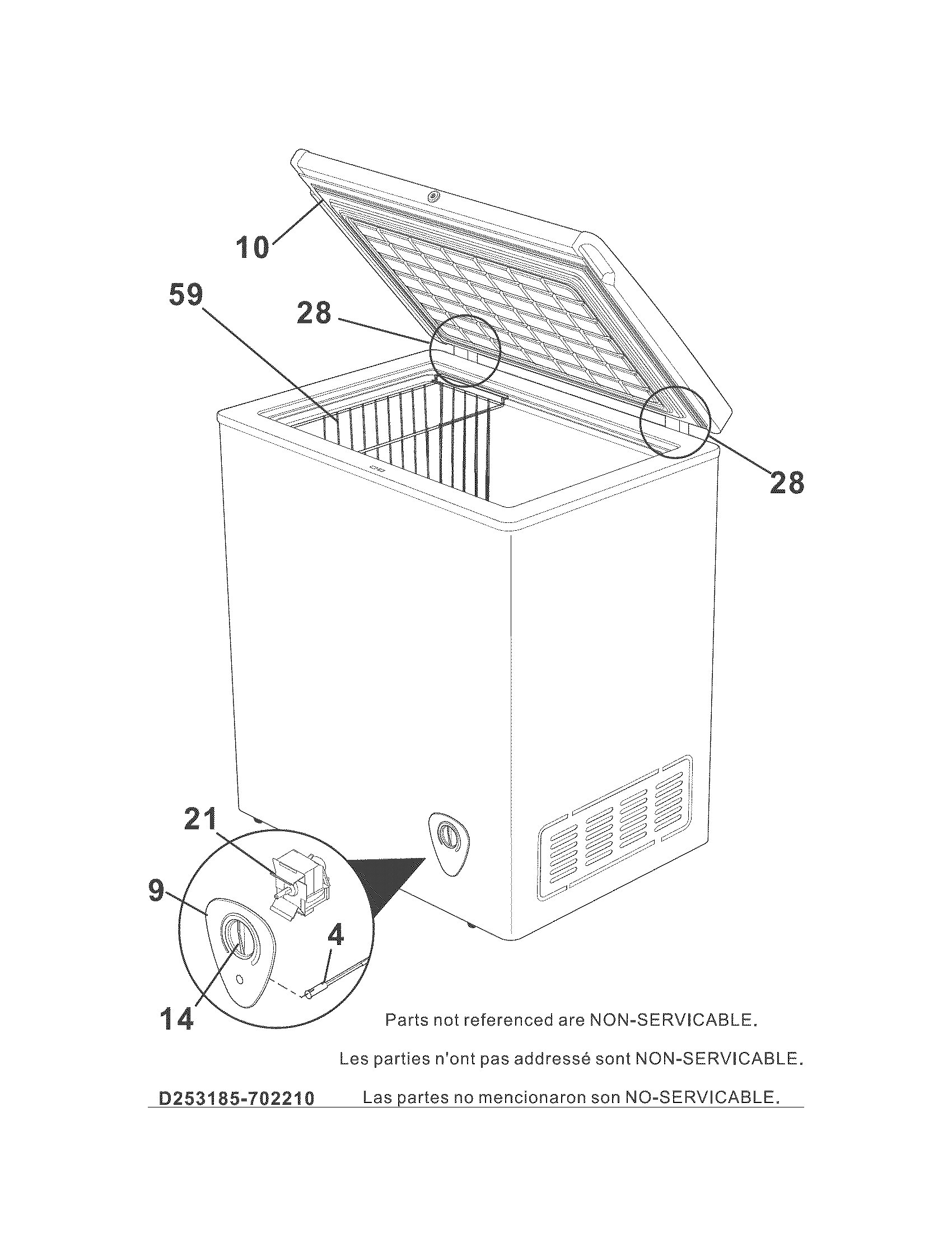 Kenmore 253.18502210 Wire Deep Freezer Basket (White