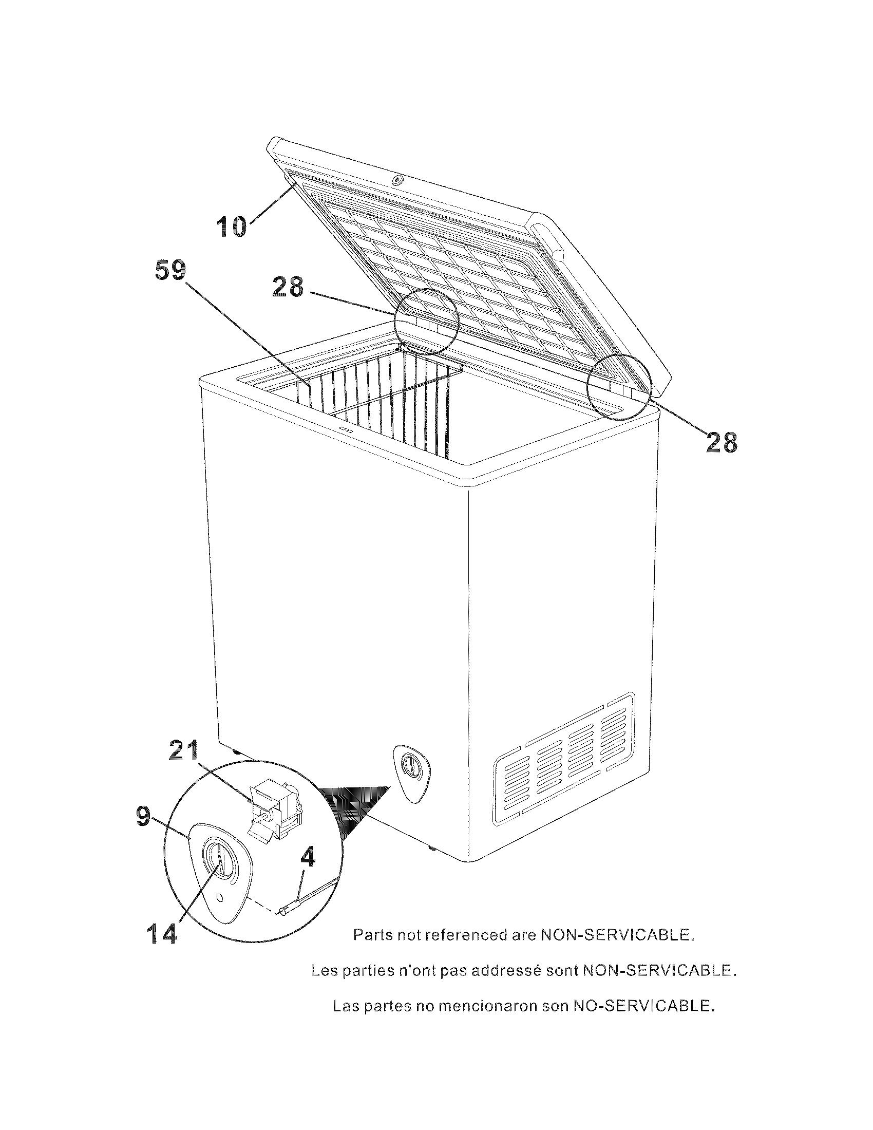 Kenmore 253.18702210 Wire Deep Freezer Basket (White