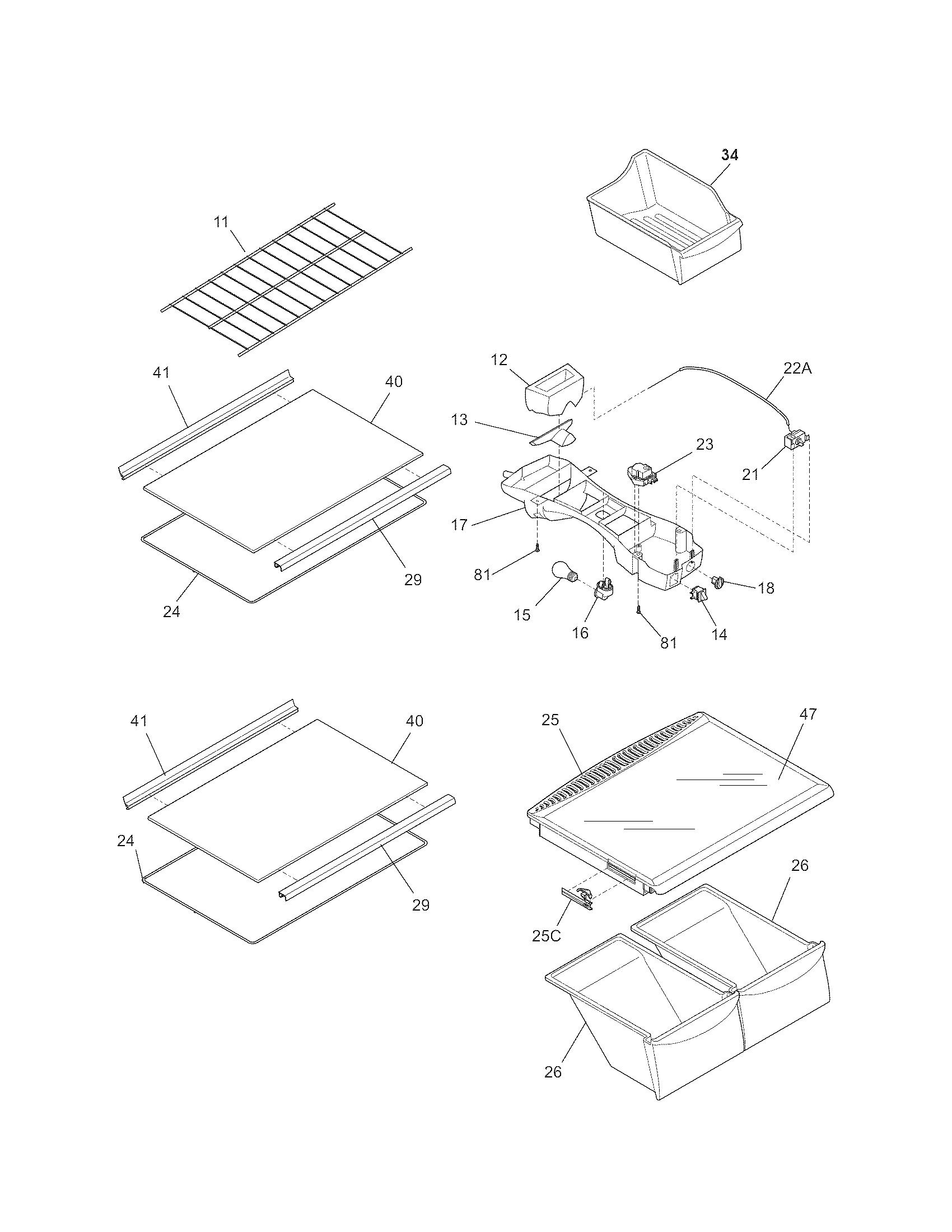 Kenmore 253 Crisper Drawer Bin