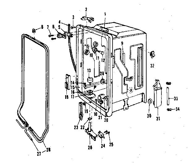 Kenmore 587.1446583 Dishwasher Tub Gasket (White