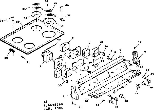 Kenmore 628.6658590 Surface Burner Element (6 in