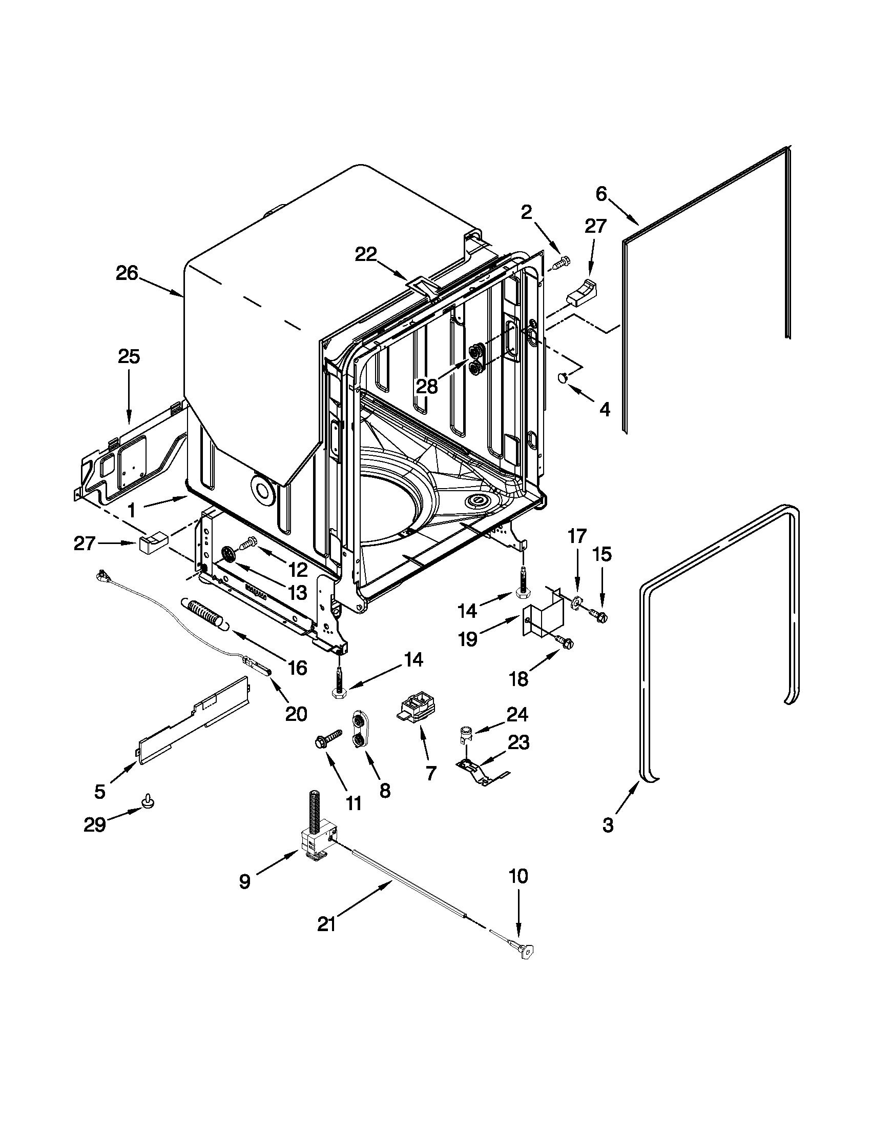 Kenmore 665 K015 Dishwasher Door Gasket Seal Black