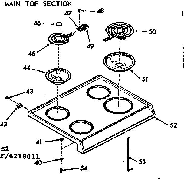 Kenmore 911.6258012 Surface Burner Receptacle Kit