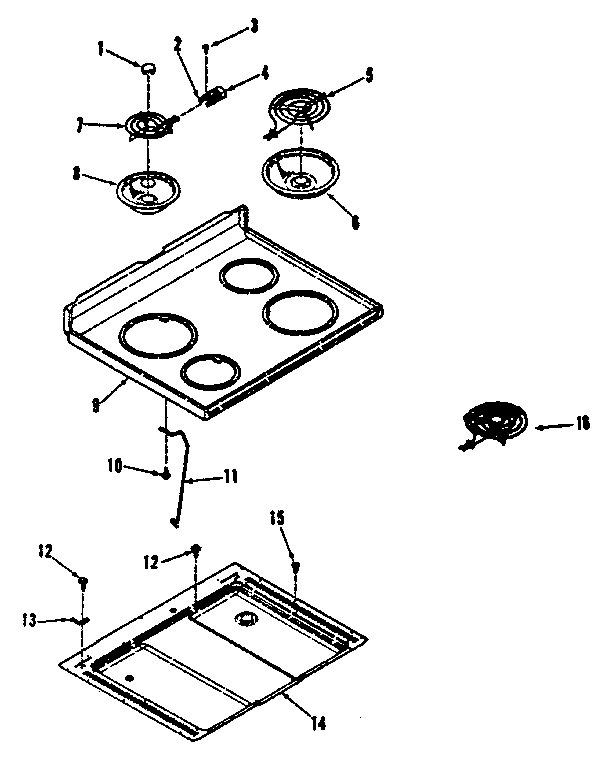 Kenmore 911.9188810 Surface Burner Receptacle Kit