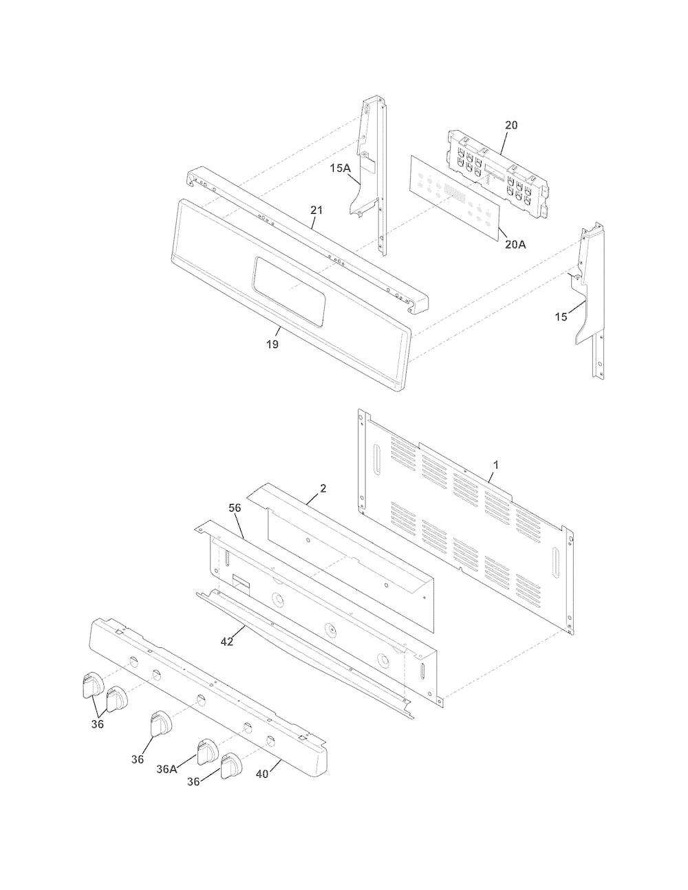 Frigidaire BGGF3042KFH Backguard Panel (Stainless