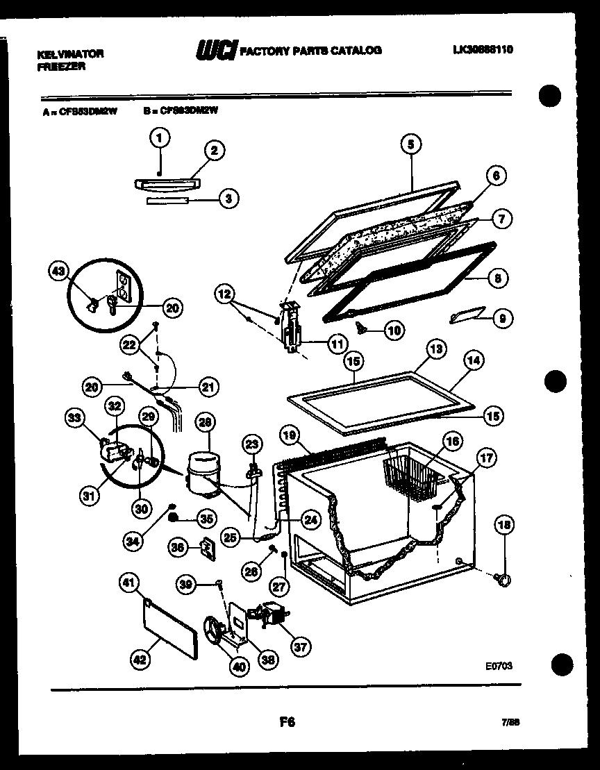 Kelvinator CFS83DM2W Temperature Control Thermostat