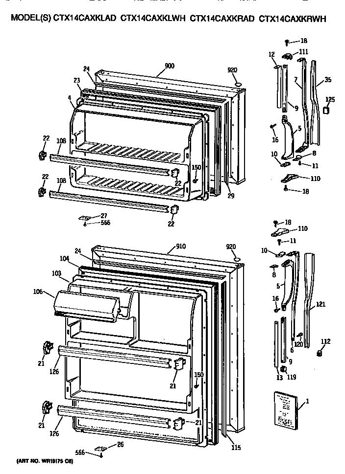 GE CTX14CAXKLWH Metal/Wire Shelf (approx 25 x 14in