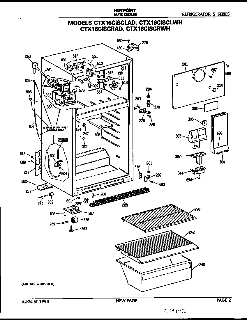 GE CTX16CISCRAD Metal/Wire Shelf (approx 25 x 14in