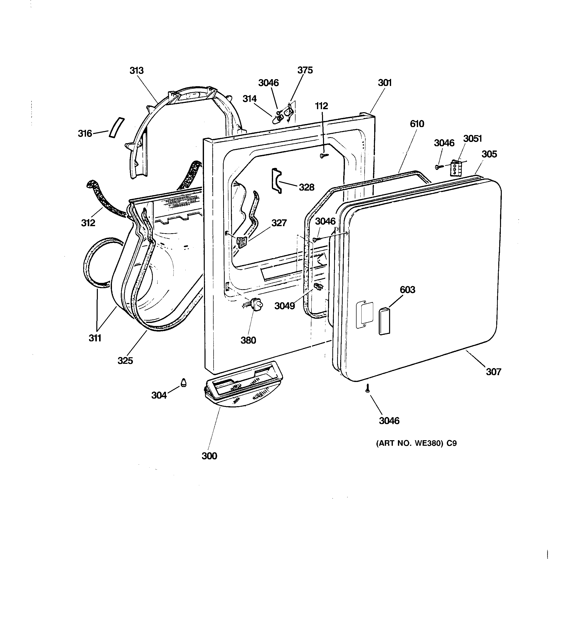 Ge Dbb Ga1aa Lint Trap Duct Assembly