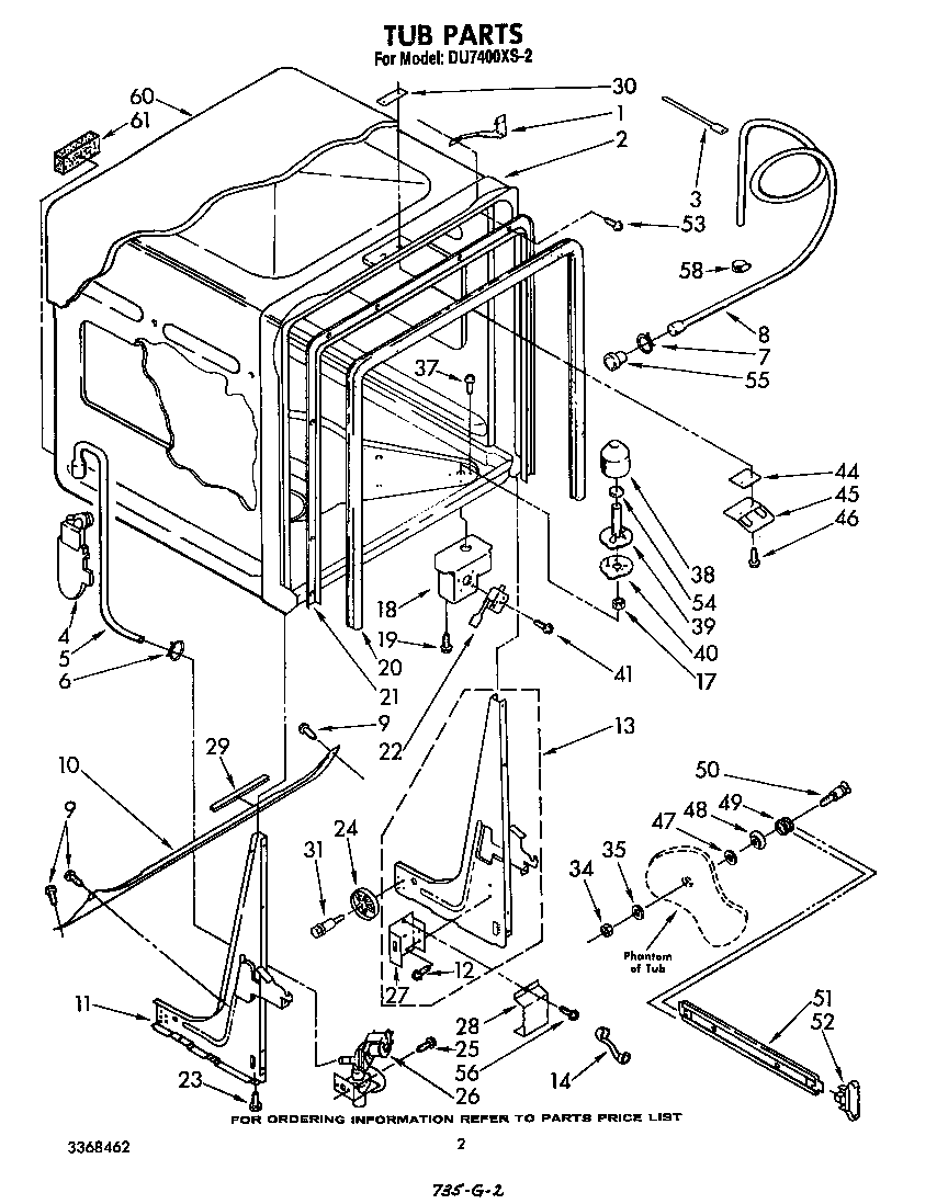 Whirlpool DU7400XS2 Dishwasher Insulation Sound Shield