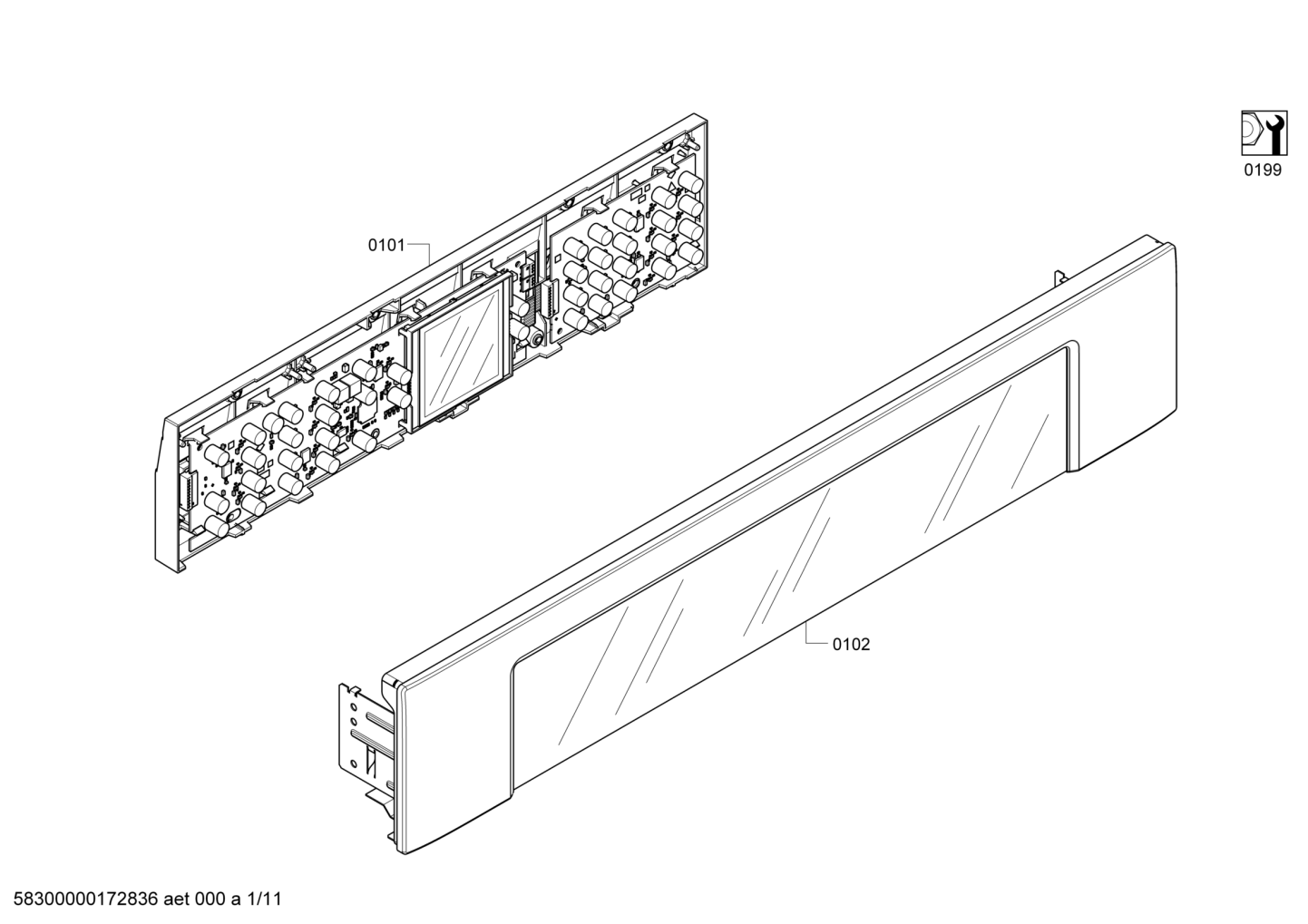 Bosch HBL8750UC/12 User Interface Membrane Control Board