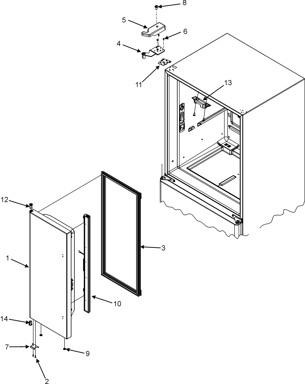 Dacor If36bnnfsf Vertical Rail Door Mullion Guide Black