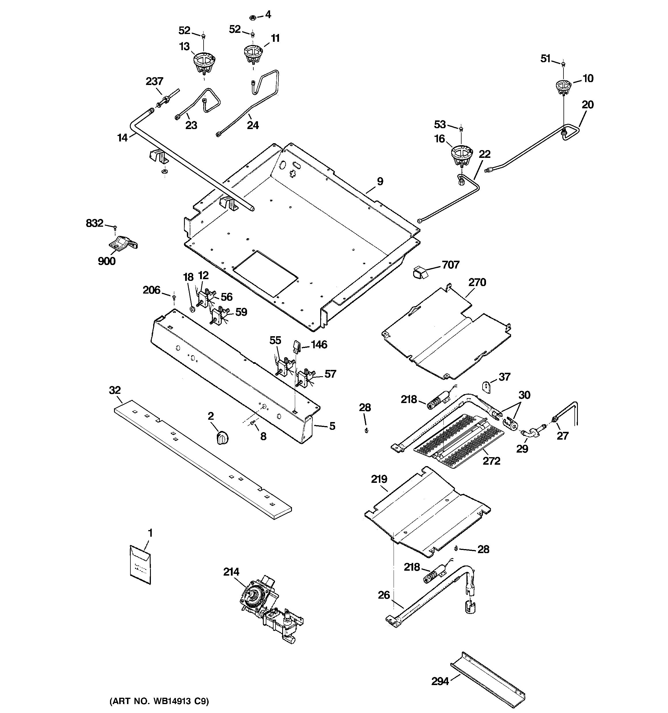 Ge Jgb281mer3bs Surface Burner Valve 270 Rr