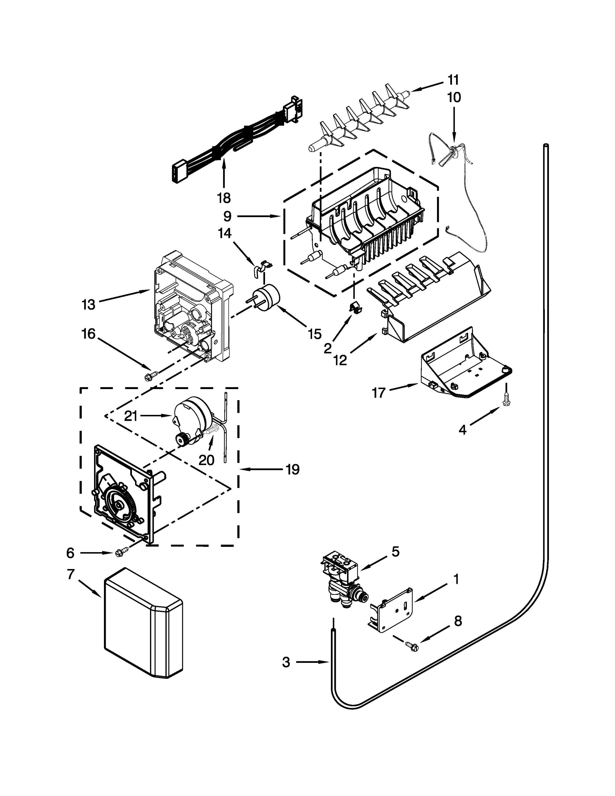 hight resolution of icemaker parts