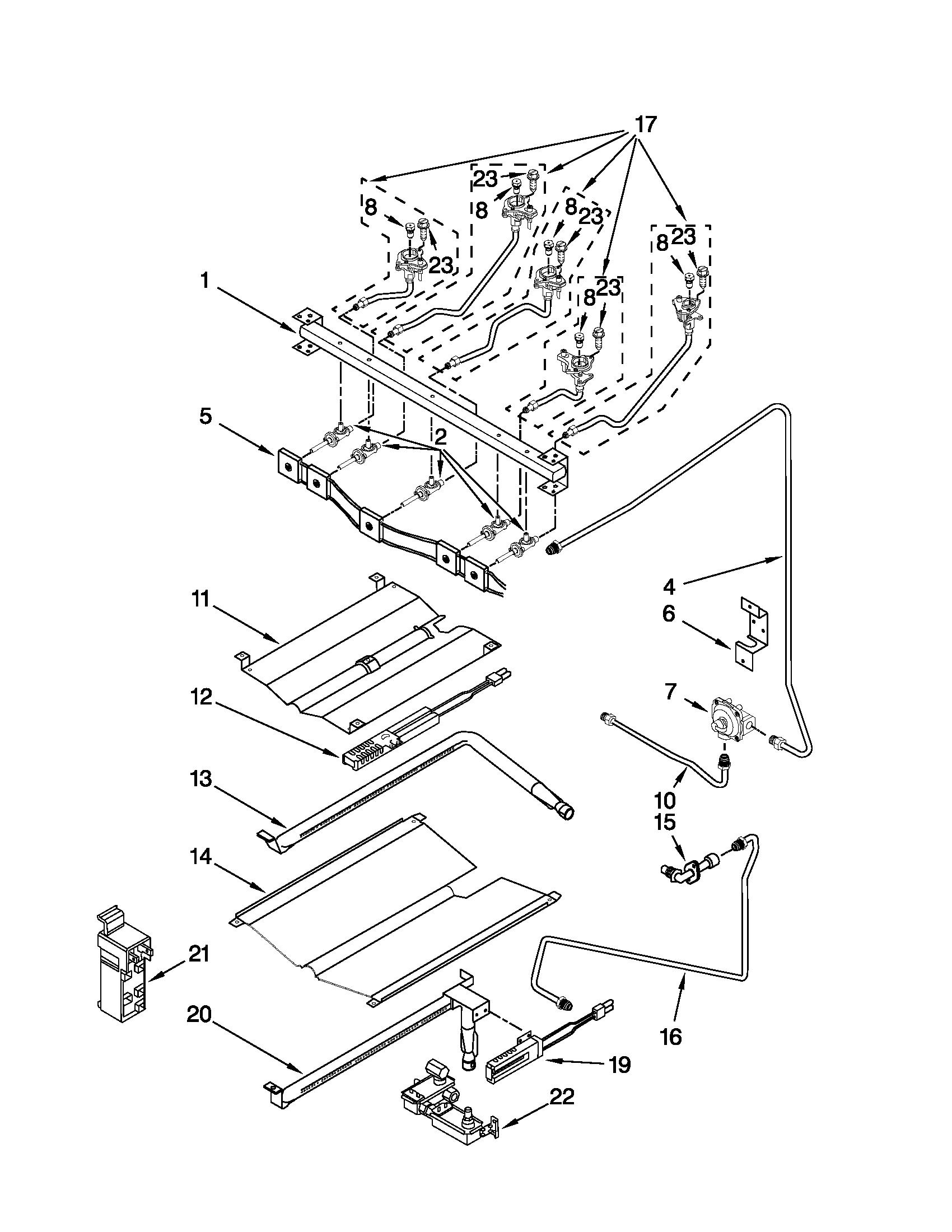 KitchenAid KGRS308XSS2 Range Manifold Wire-Harness