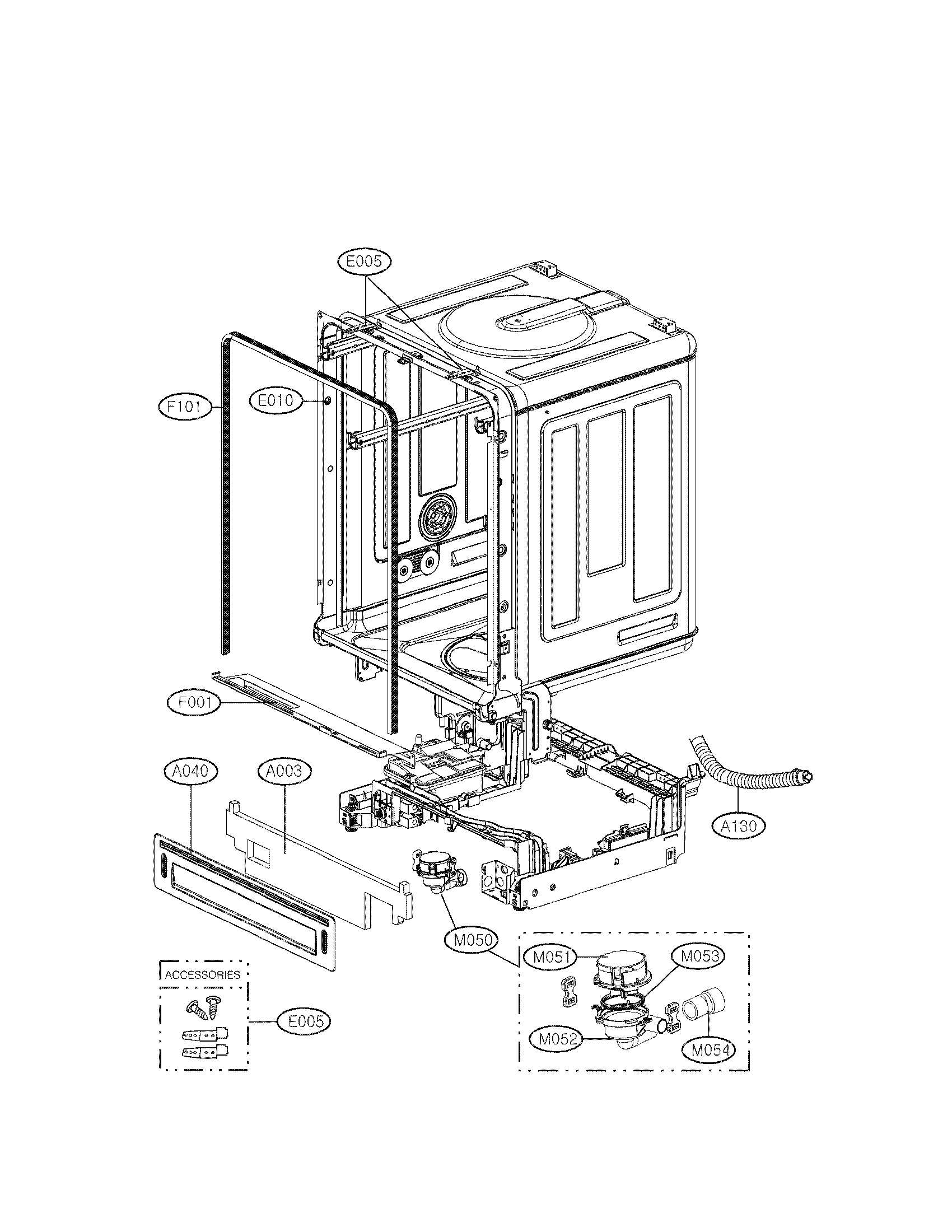 Lg Ldf St Dishwasher Installation Hardware Kit