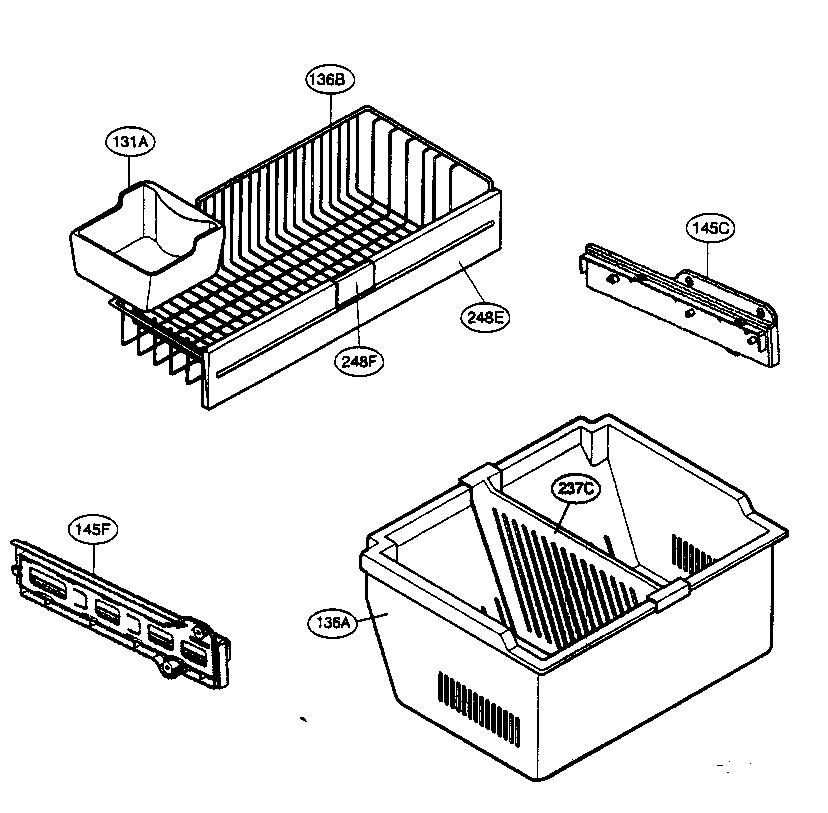 LG LFC22740ST Freezer Drawer Slide-Guide/Rail (left side