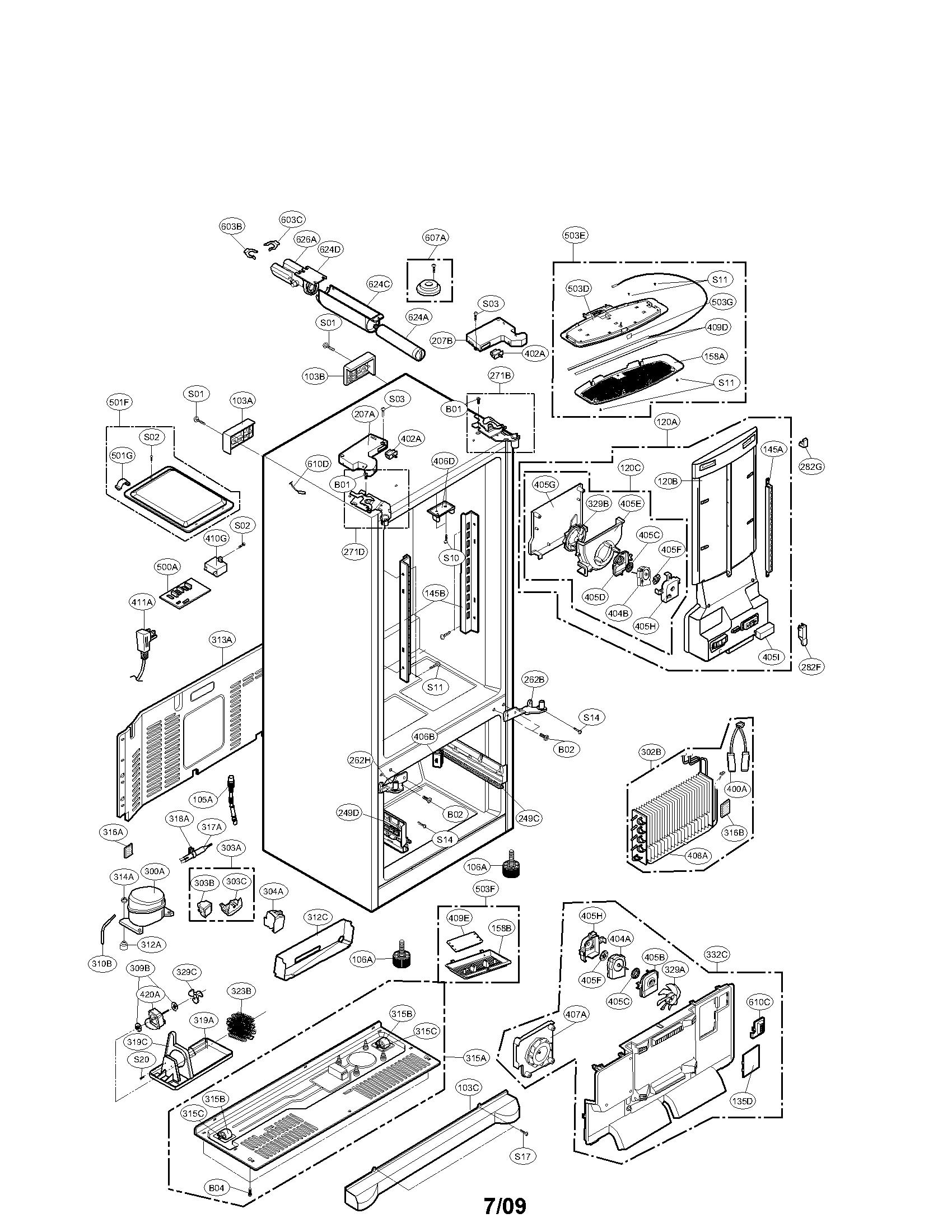 Lg Lfx St Evaporator Fan Motor