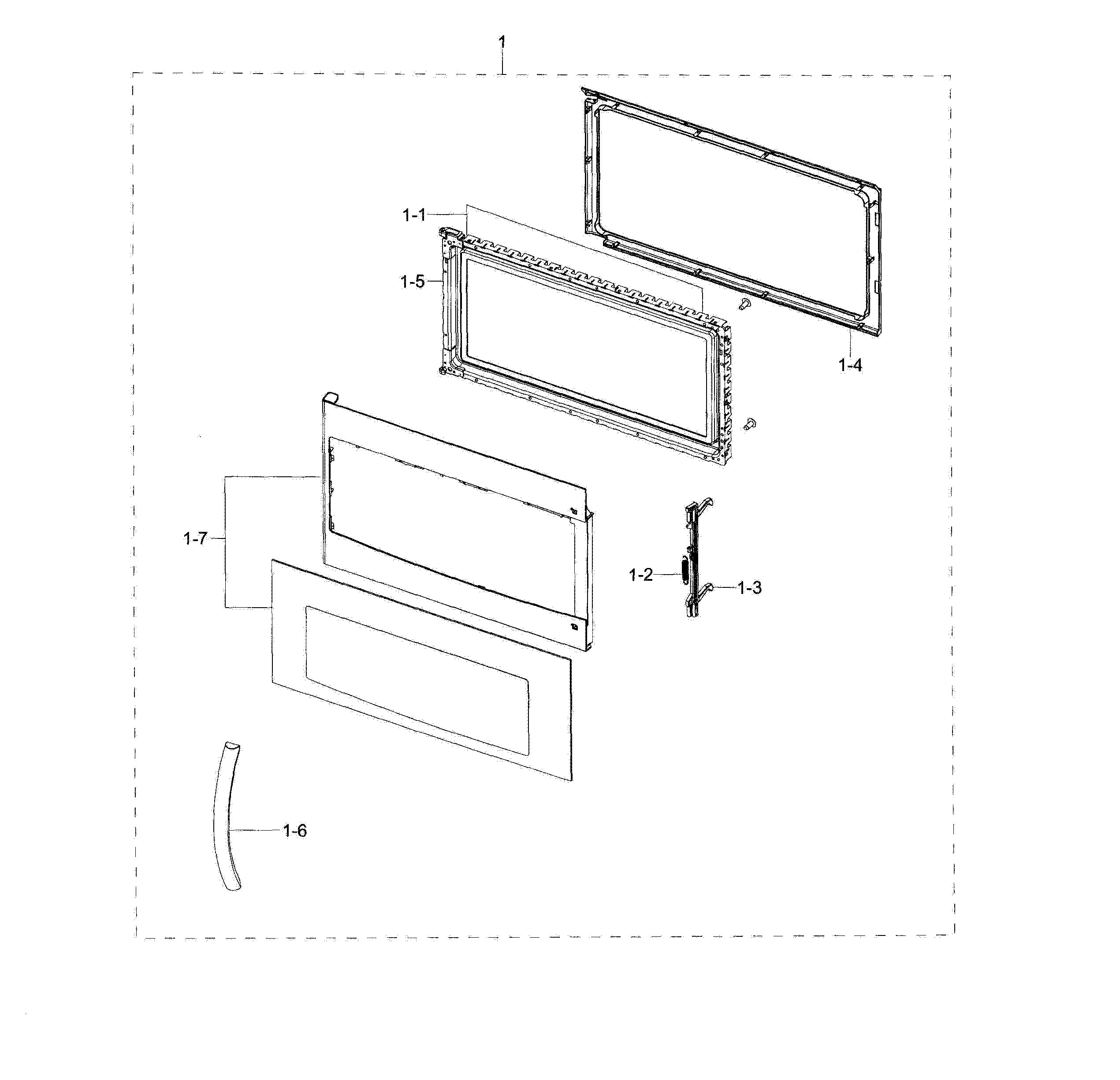 Samsung ME18H704SFS/AA Door Assembly