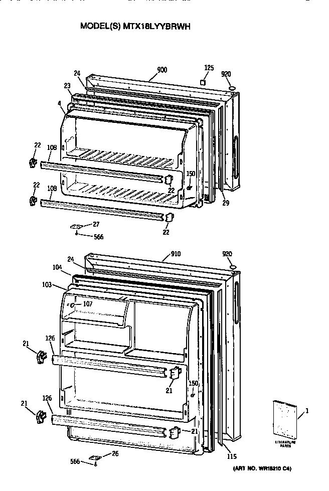 GE MTX18LYYBRWH Metal/Wire Shelf (approx 25 x 14in