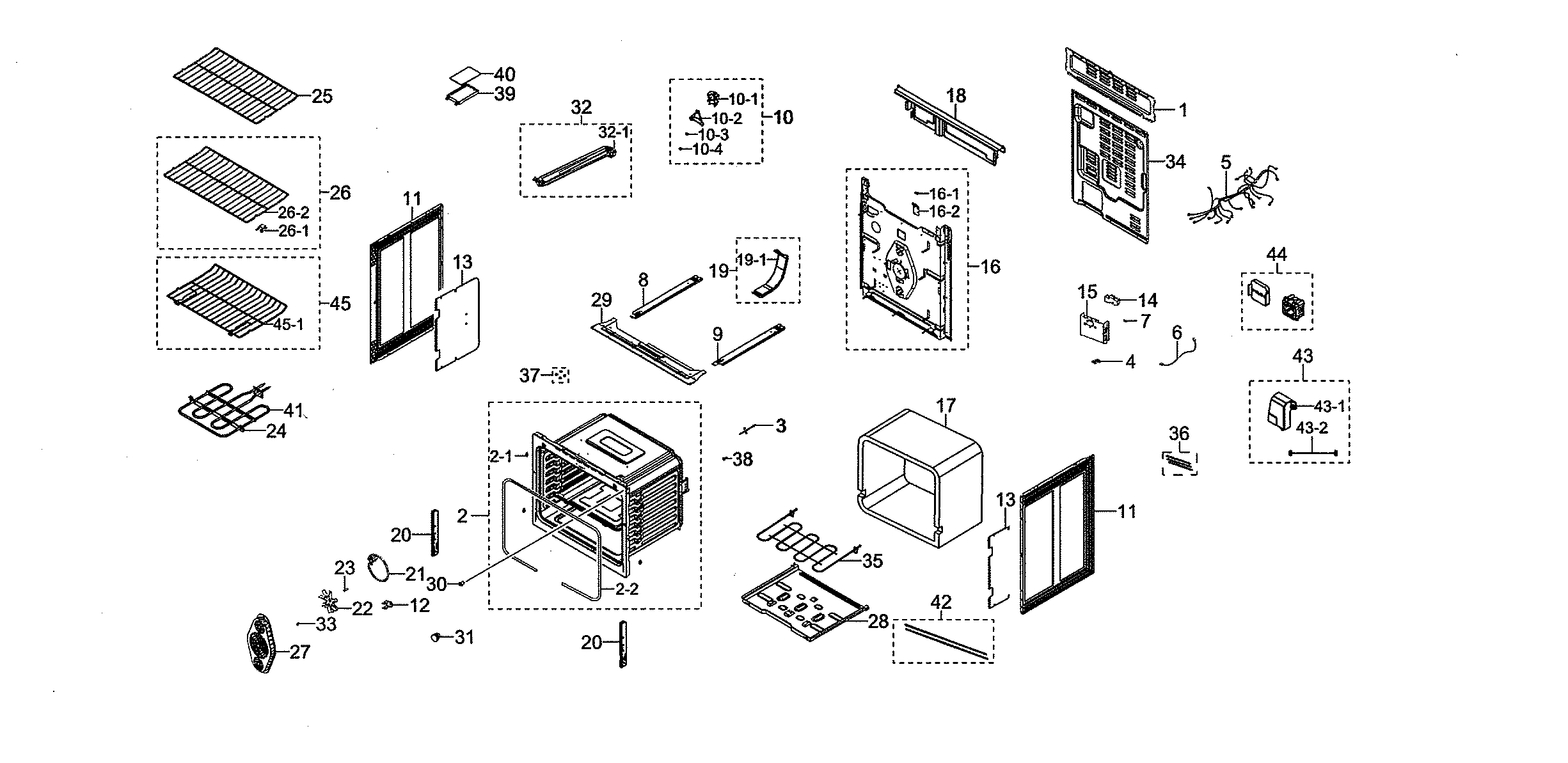 Samsung Ne59n Sg Aa Oven Rack Shelf
