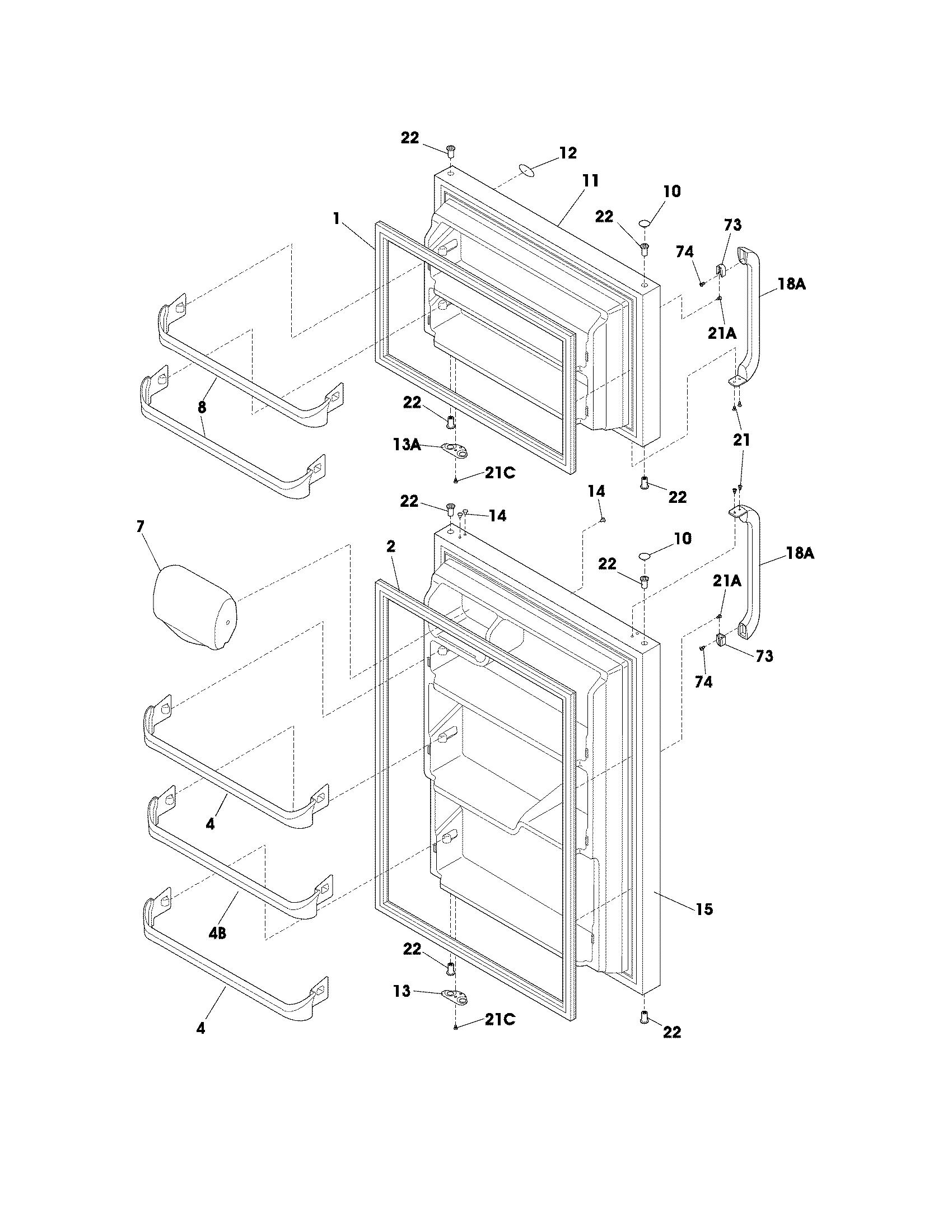 Frigidaire Nftr18x4ps6 Door Handle Set