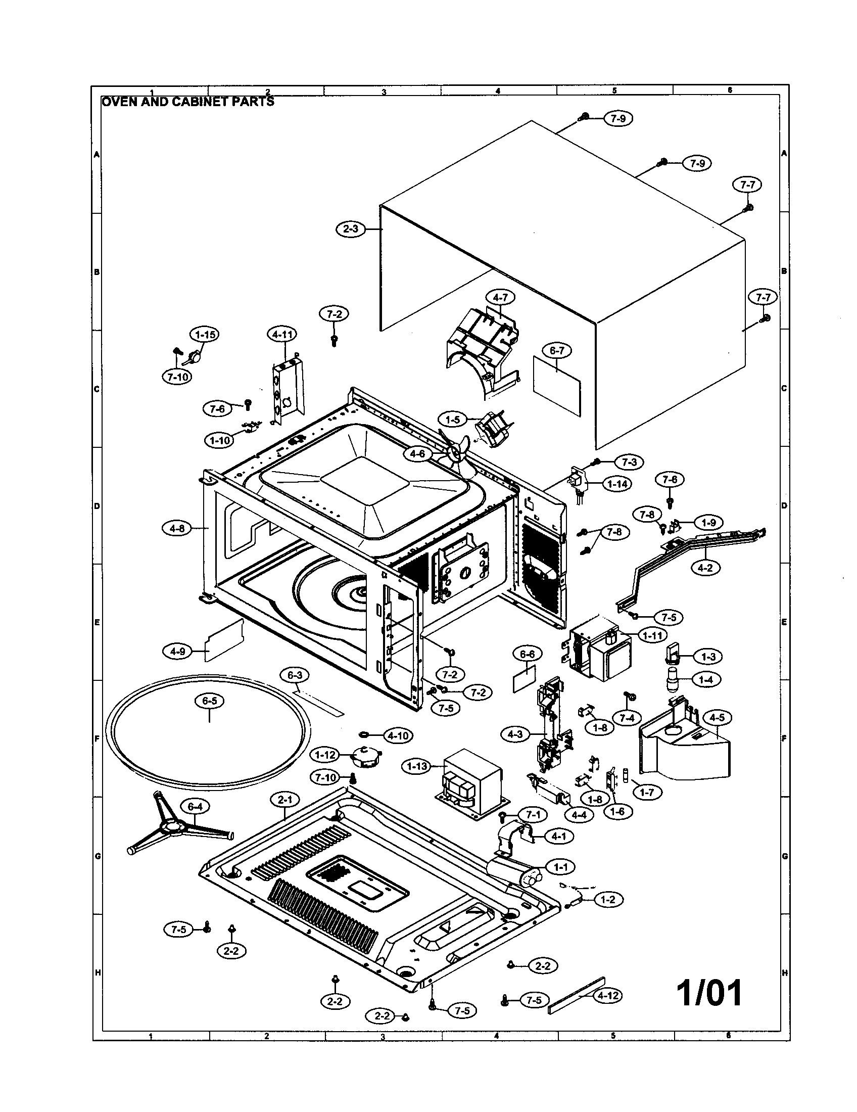 Wave Guide Cover for Sharp R420DK Microwave