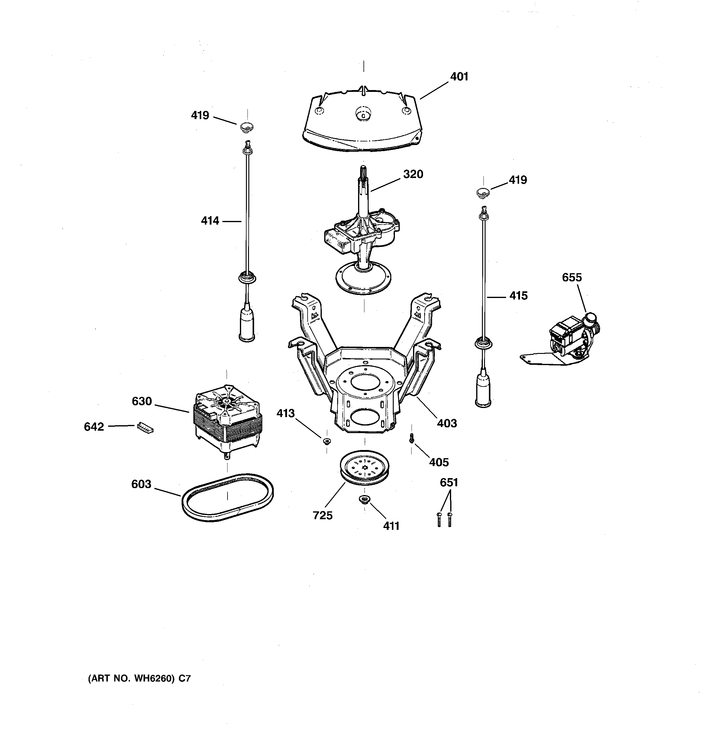 Ge S D0ww Motor And Harness Assembly