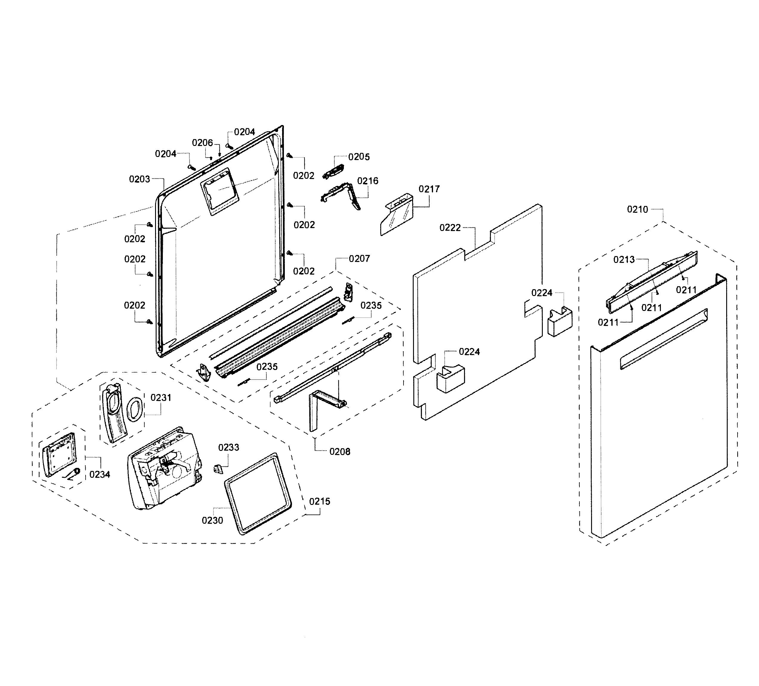 Bosch Shp65t55uc 02 Pocket Door Handle