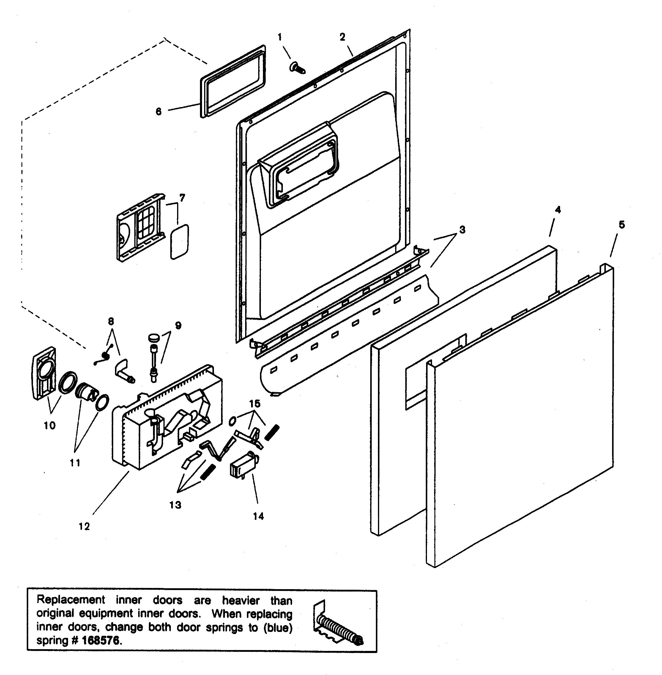 Bosch Shu33ac02uc 14 Lower Door Seal