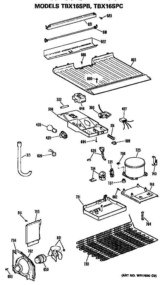 GE TBX16SPBLAD Metal/Wire Shelf (approx 25 x 14in