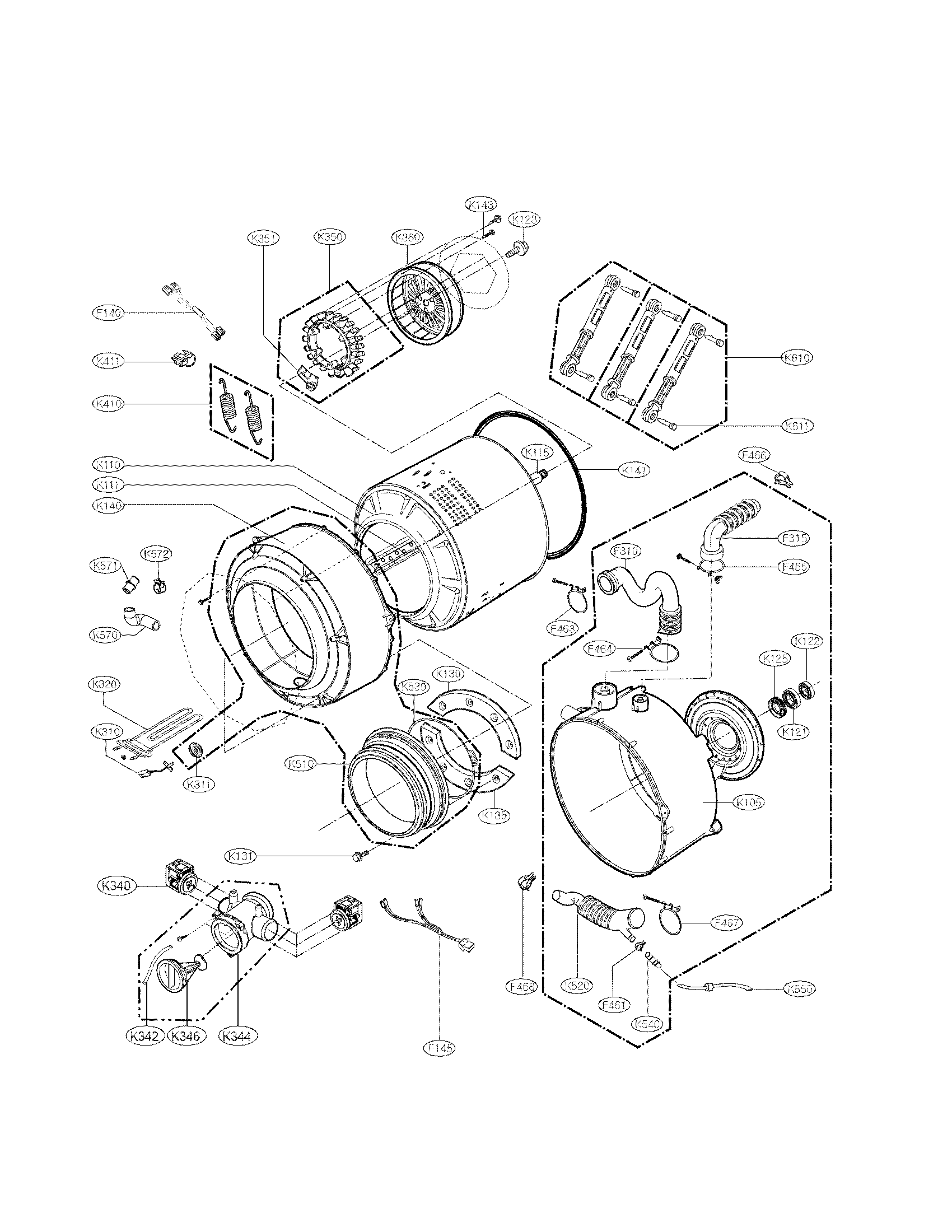 Lg Wm Hw Washer Drain Pump And Motor Assembly