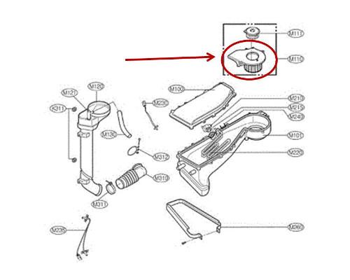 LG Part# EAU37932704 DC Fan Motor Assembly (OEM)