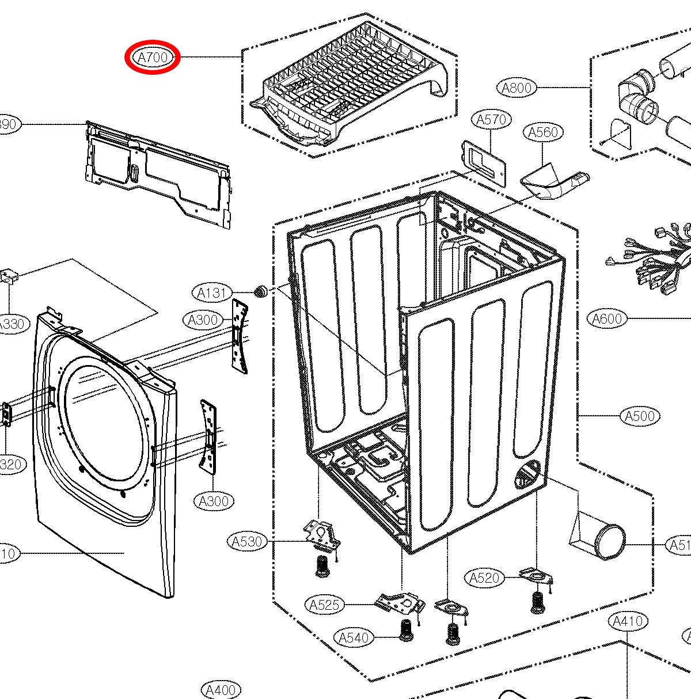 LG Part# 3750EL1001A Dryer Drying Rack (OEM)