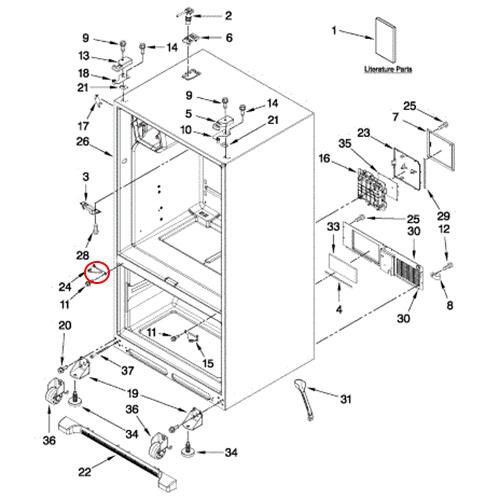 Maytag MFD2562KES10 Vertical Mullion Rail/Trim Piece