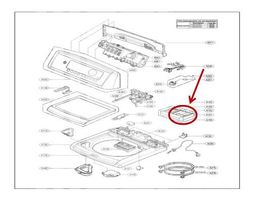 LG Part# MBL62061601 Softener Cap (OEM