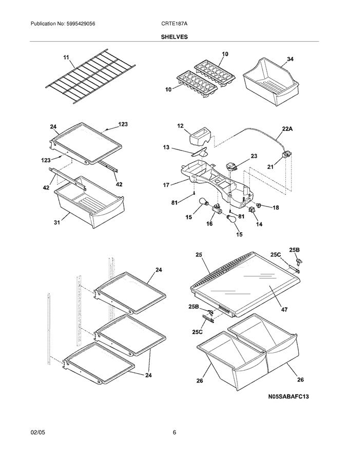 Crosley CRTE187AK2 Freezer Wire Shelf Genuine OEM