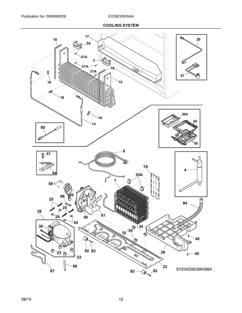 Electrolux EI23BC65KSAA Refrigerator Condenser Fan Shroud