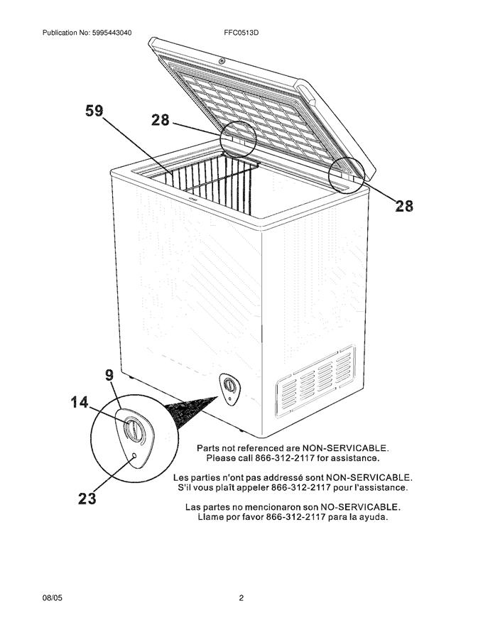Frigidaire FFC0513D Wire Deep Freezer Basket (White