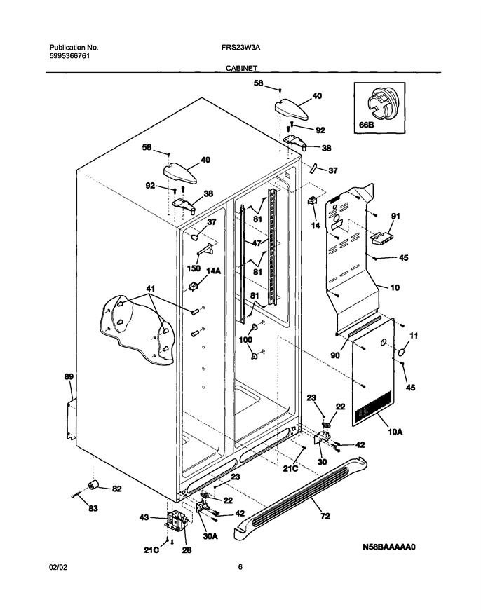 Frigidaire FRS23W3AQ3 Refrigerator Kick Plate/Grill
