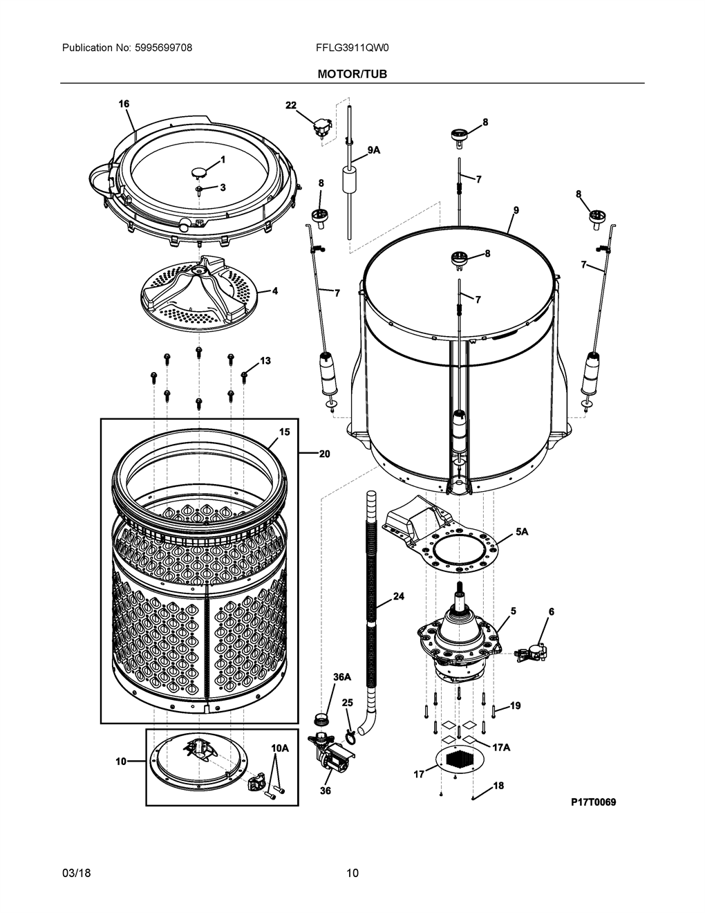 For Frigidaire Replacement Parts Motor Repalcement And Diagram Motor