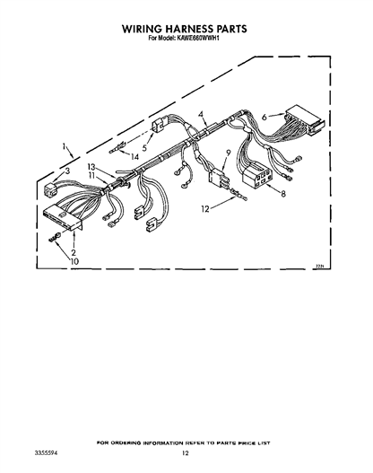 KitchenAid KAWE660WWH1 Disconnect/Connector for Motor