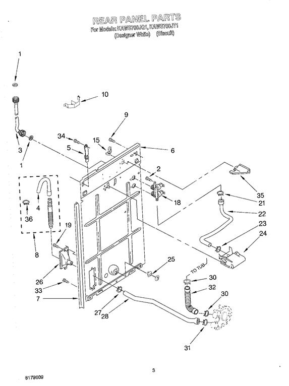 KitchenAid KAWS700JQ1 Washer Water Inlet Valve (w/bracket