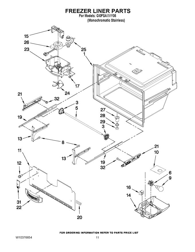 Whirlpool GI0FSAXVY05 Refrigerator Evaporator Fan Motor