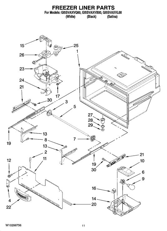 Whirlpool GI5SVAXVQ00 Refrigerator Evaporator Fan Motor
