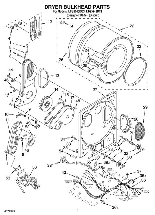 Whirlpool LTG5243DT3 Dryer Thermal Cut-Off Fuse Kit