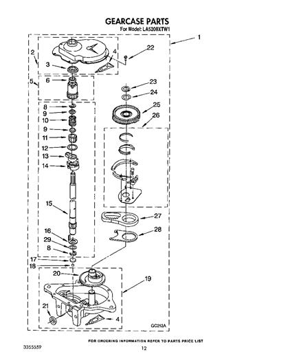 Whirlpool LA5200XTM1 Oil Seal Kit for Gearcase Input Shaft