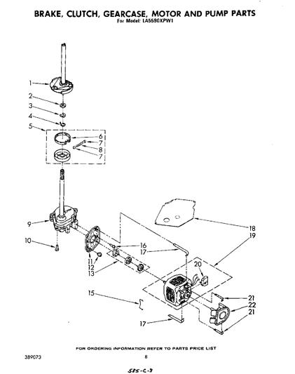 Whirlpool LA5590XPW1 Transmission Gearcase (Neutral Drain